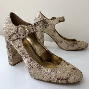 Marc Fisher Lace Heels Size 8